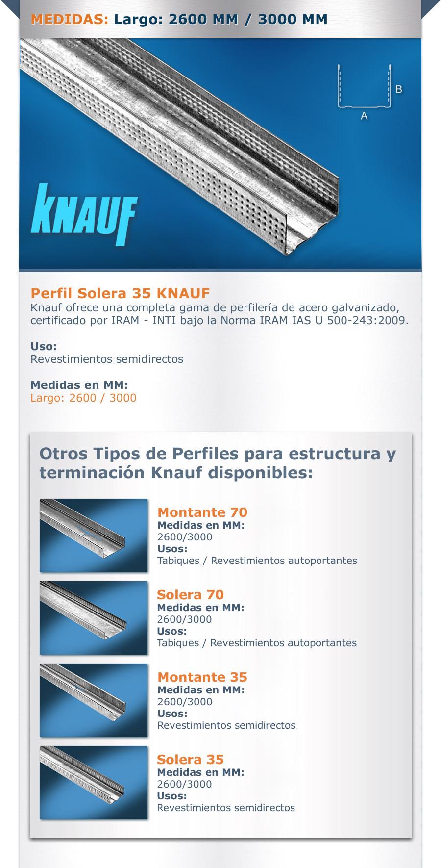 Solera 35mm P Tabiques Y Cielorrasos Knauf Durlock O